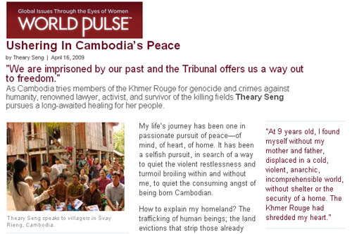 Ushering in Cambodia's Peace by Theary Seng